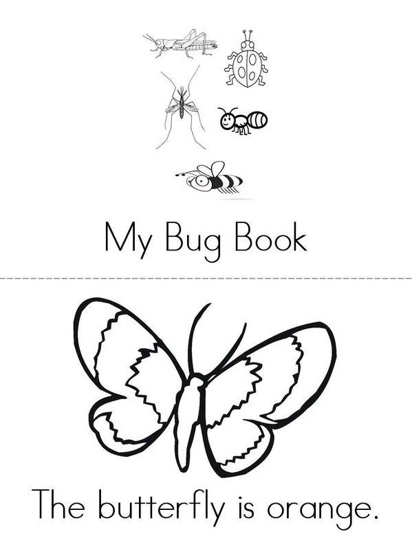My Bug Book Mini Book - Sheet 1