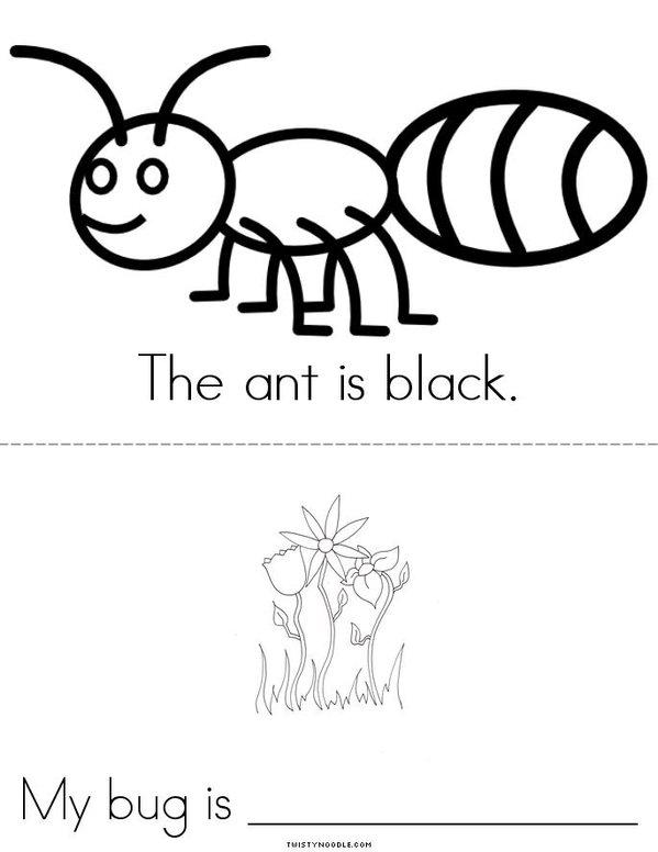 My Bug Book Mini Book - Sheet 4