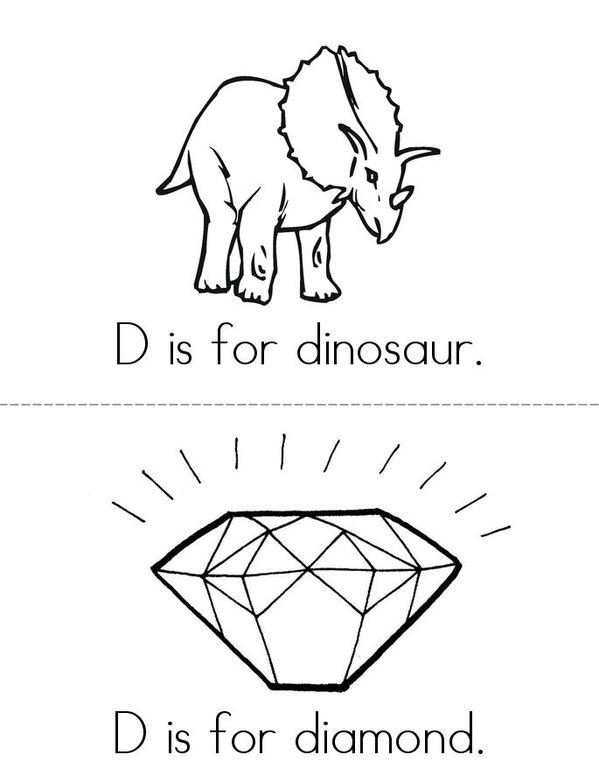 d is for dinosaur coloring pages - photo #17