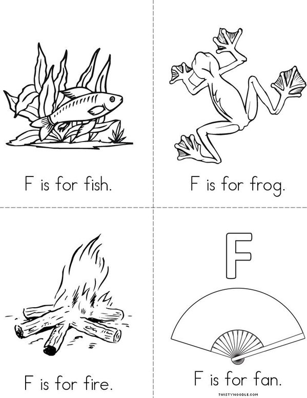 F is for fox Mini Book - Sheet 2