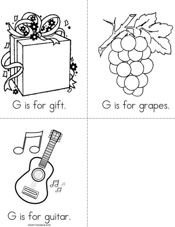 G is for grasshopper Mini Book - Sheet 2