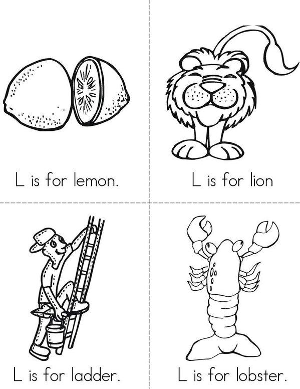 L is for lemon Mini Book - Sheet 1