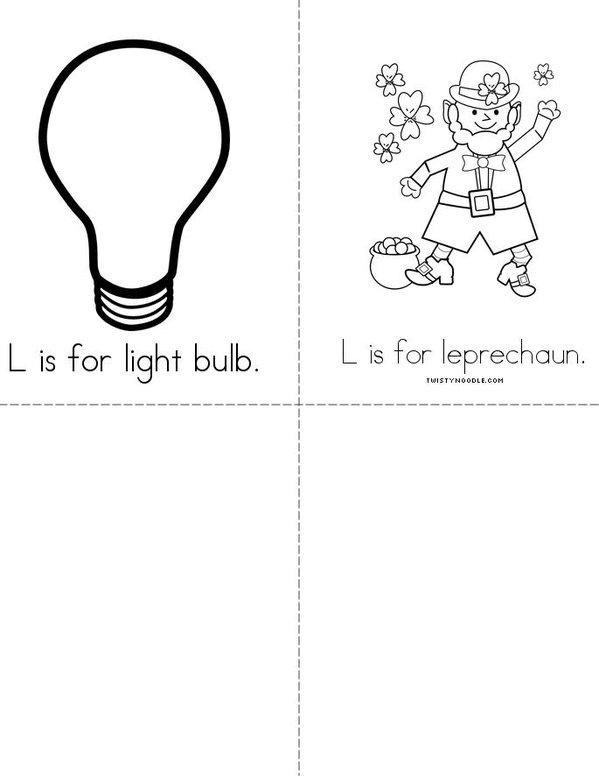 L is for lemon Mini Book - Sheet 2