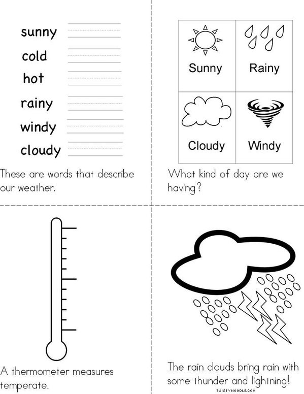 Our Weather Mini Book