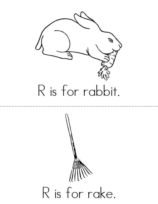 R Is For Rabbit Book Twisty Noodle