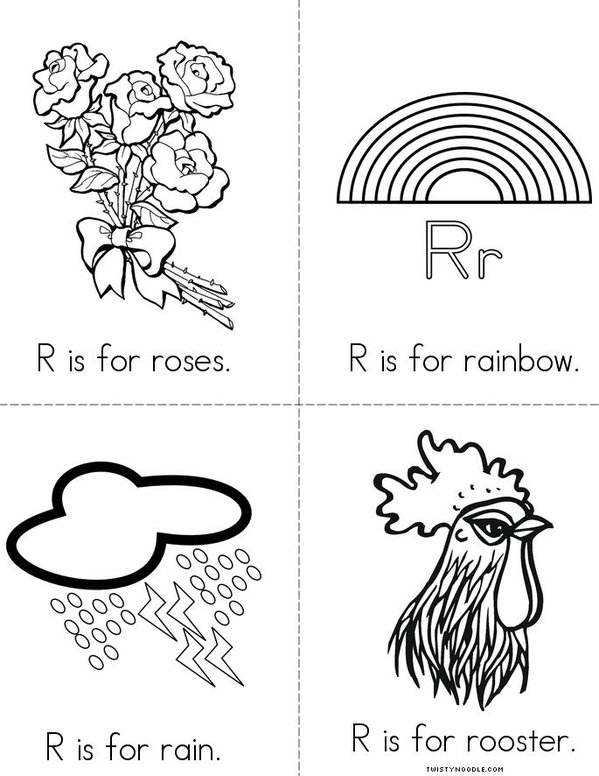 R is for rabbit Mini Book - Sheet 2