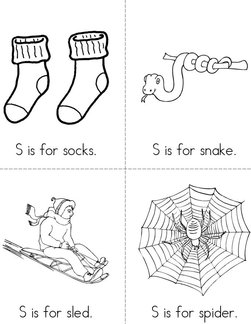 S is for socks Book