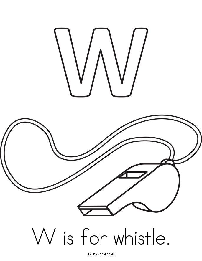 W is for watermelon Book - Twisty Noodle