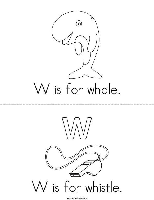 W is for watermelon Mini Book - Sheet 2