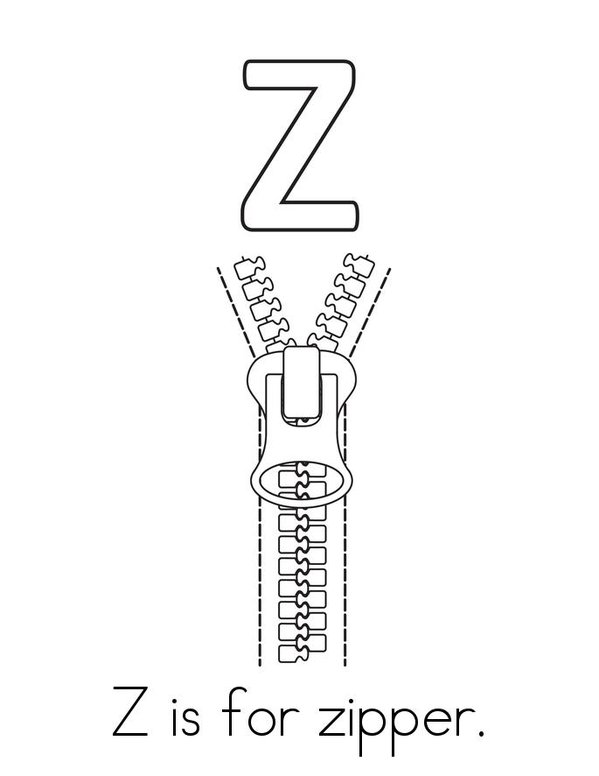 Z Is For Zipper Book Twisty Noodle