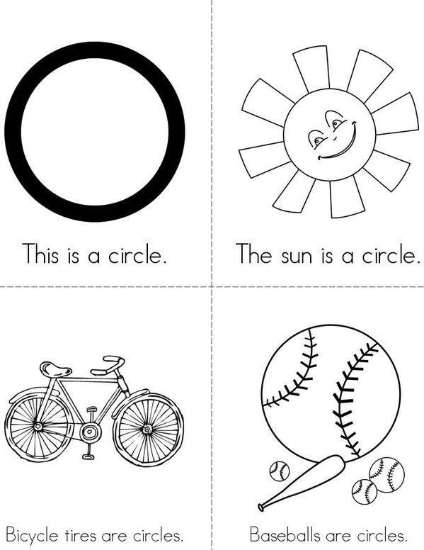 Circles Are Everywhere! Mini Book - Sheet 1