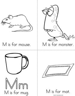 M is for mouse Book