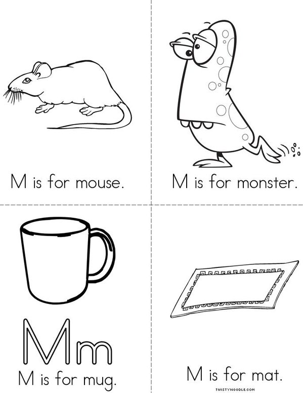 M is for mouse Mini Book
