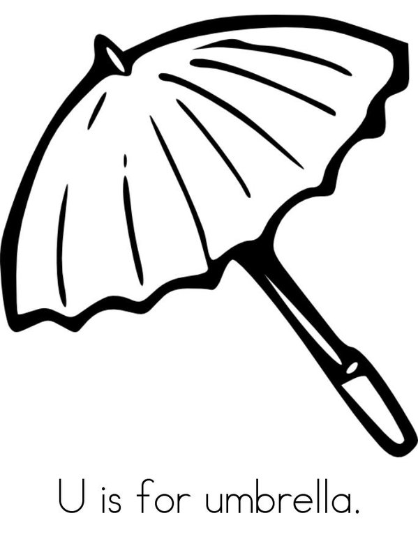 Alphabet Coloring Page Letter U Umbrella  Printables for