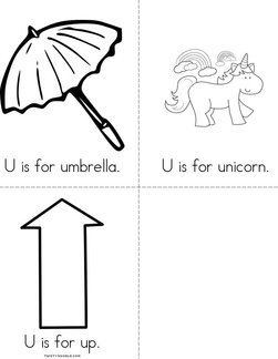 U is for umbrella Book