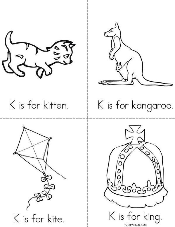 K is for kitten Mini Book