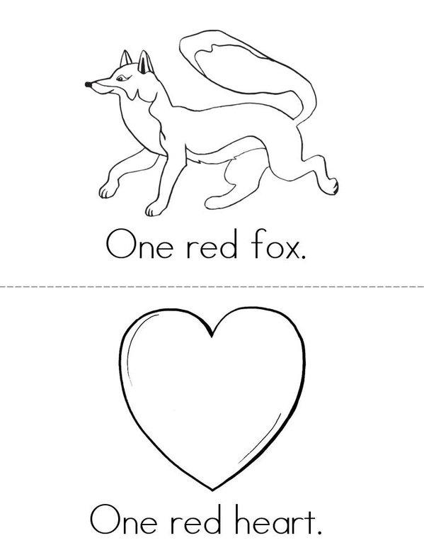 My Red Book Mini Book - Sheet 1