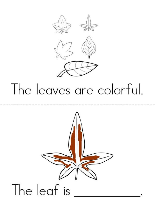 The Leaves are Colorful Mini Book - Sheet 1
