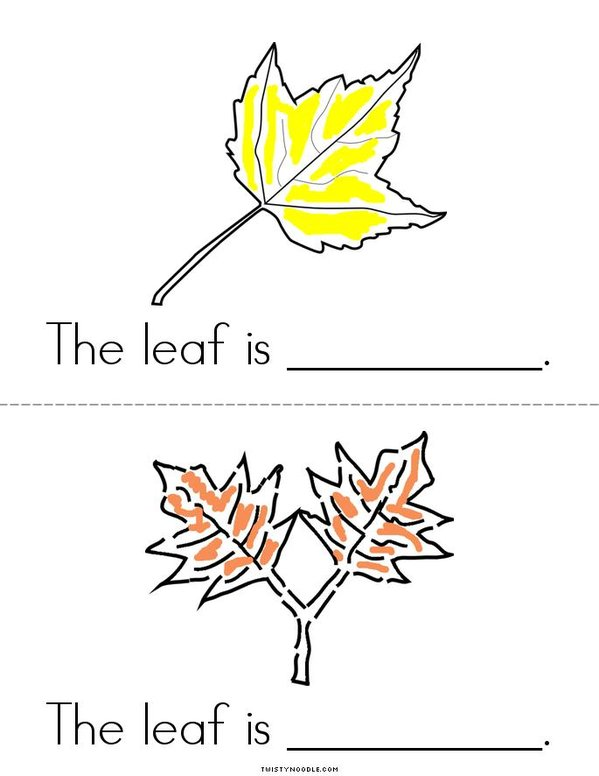 The Leaves are Colorful Mini Book - Sheet 2