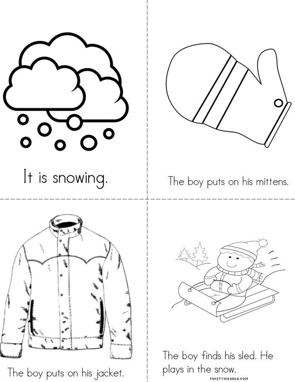 It is snowing Mini Book
