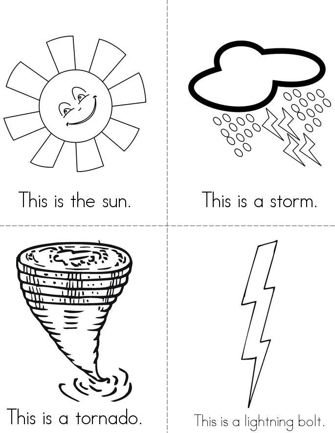 weather 4 minibook 4 sheet pg1 - Weather Books For Kindergarten