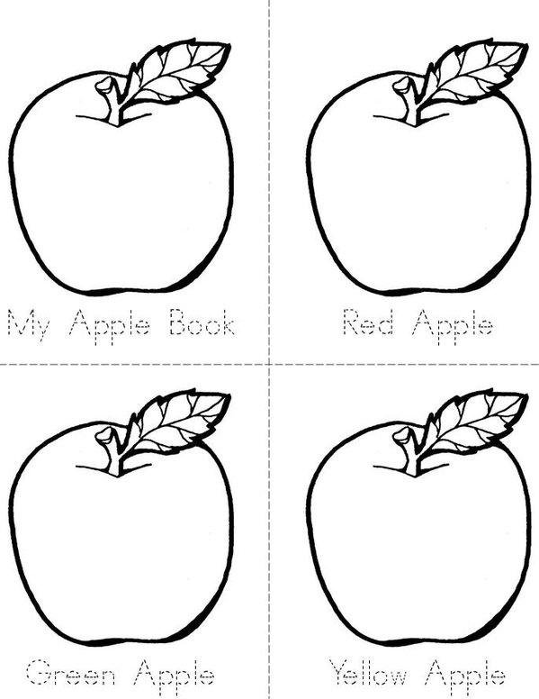 Apples Mini Book - Sheet 1