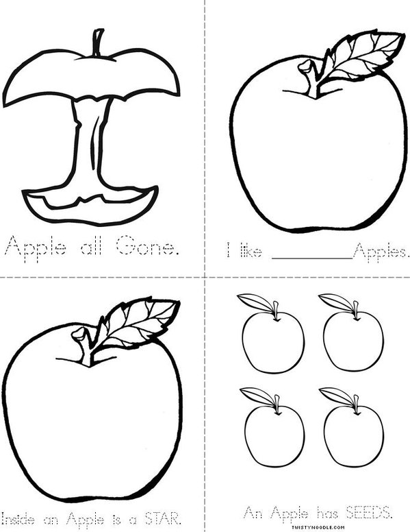 Apples Mini Book - Sheet 2