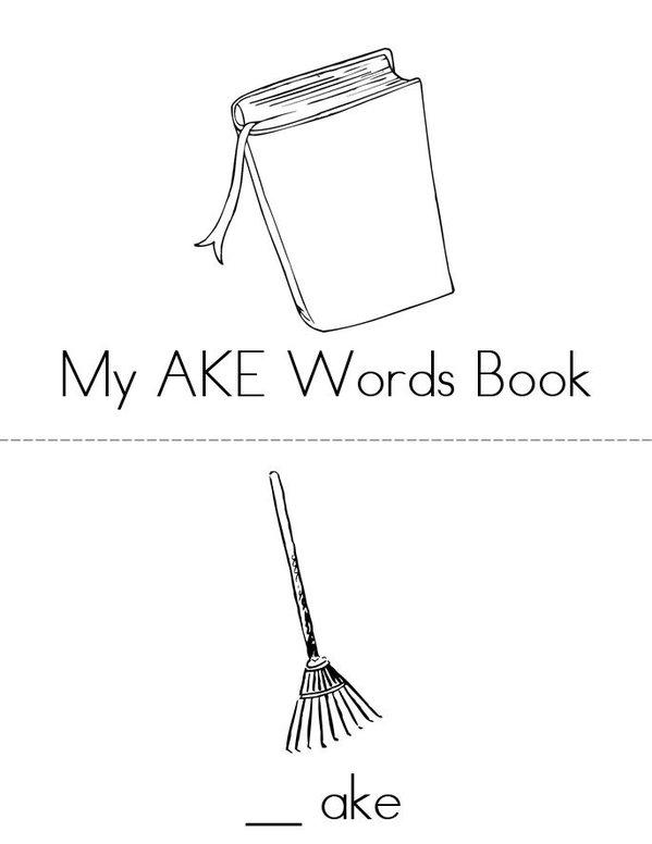 -AKE Words Mini Book - Sheet 1