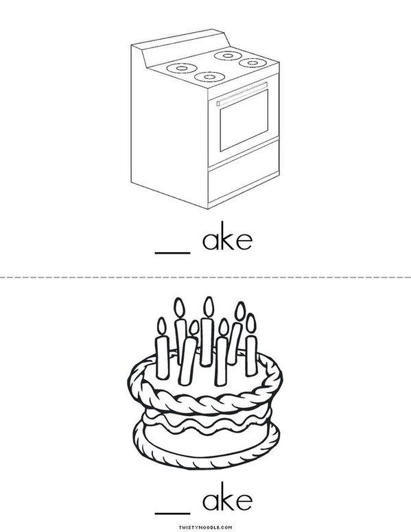 -AKE Words Mini Book - Sheet 2