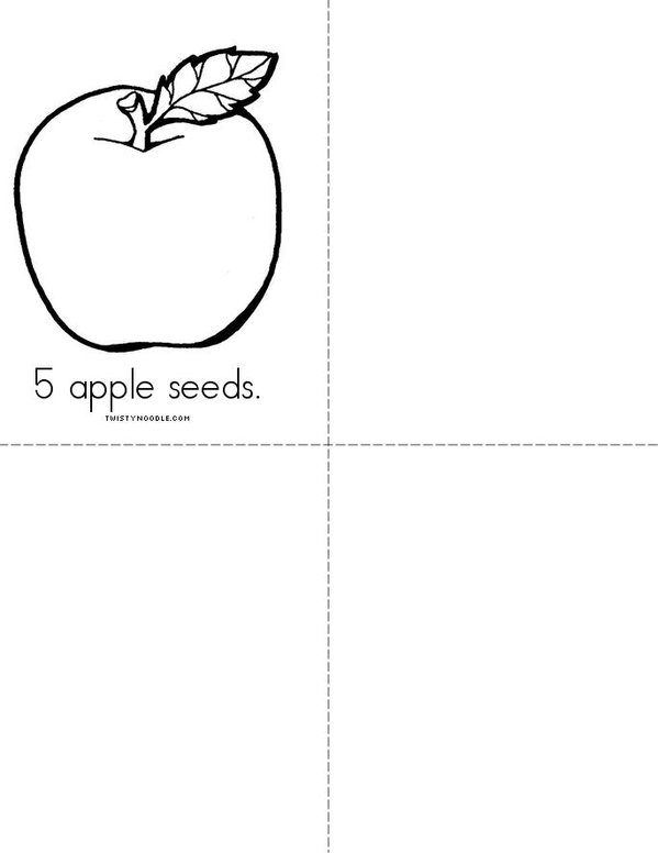 My Apple Book Mini Book - Sheet 2