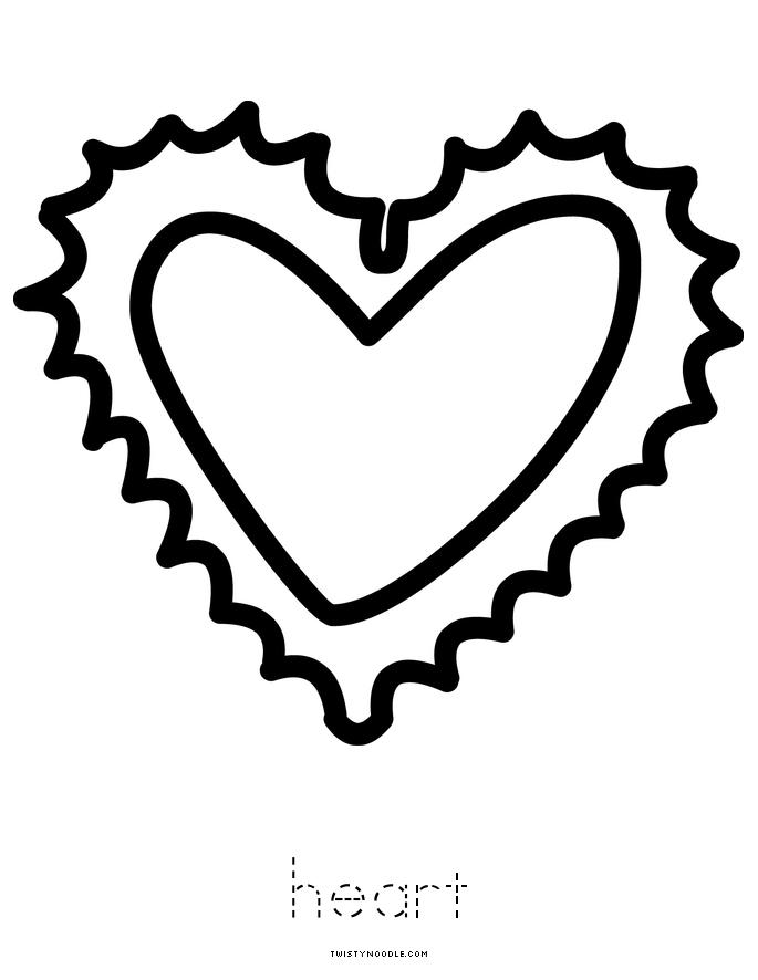 Hearts Book - Twisty Noodle