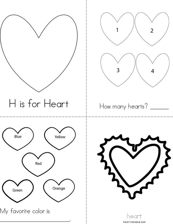 Hearts Mini Book