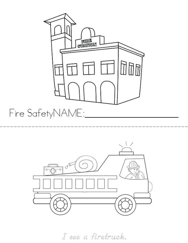 Fire Safety Mini Book - Sheet 1