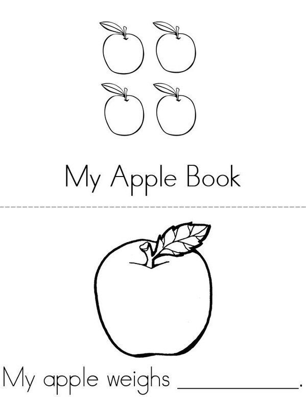 All About My Apple Mini Book - Sheet 1