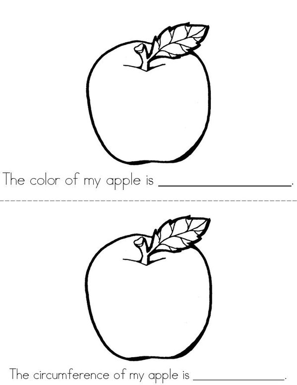 All About My Apple Mini Book - Sheet 2