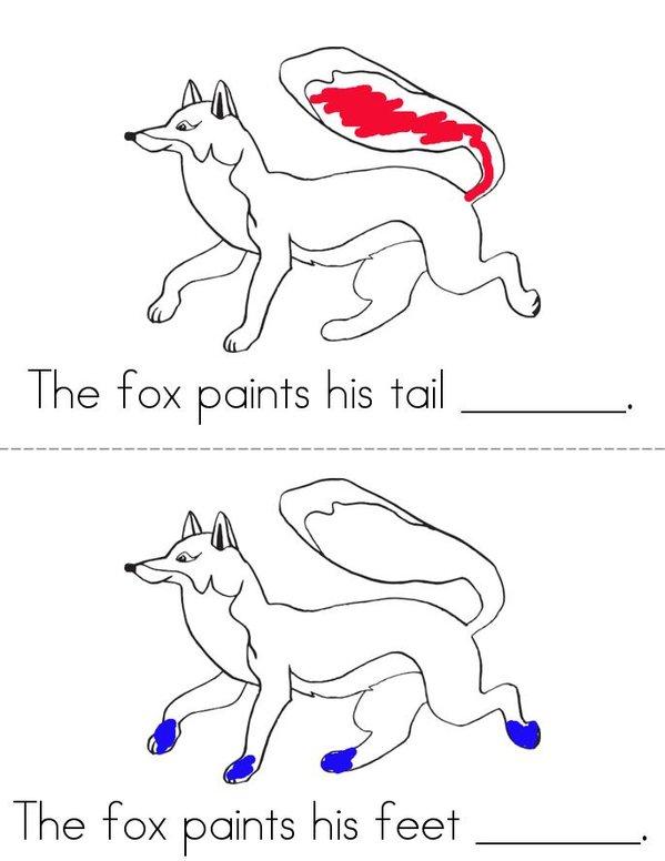 Fox Likes to Paint Mini Book - Sheet 2