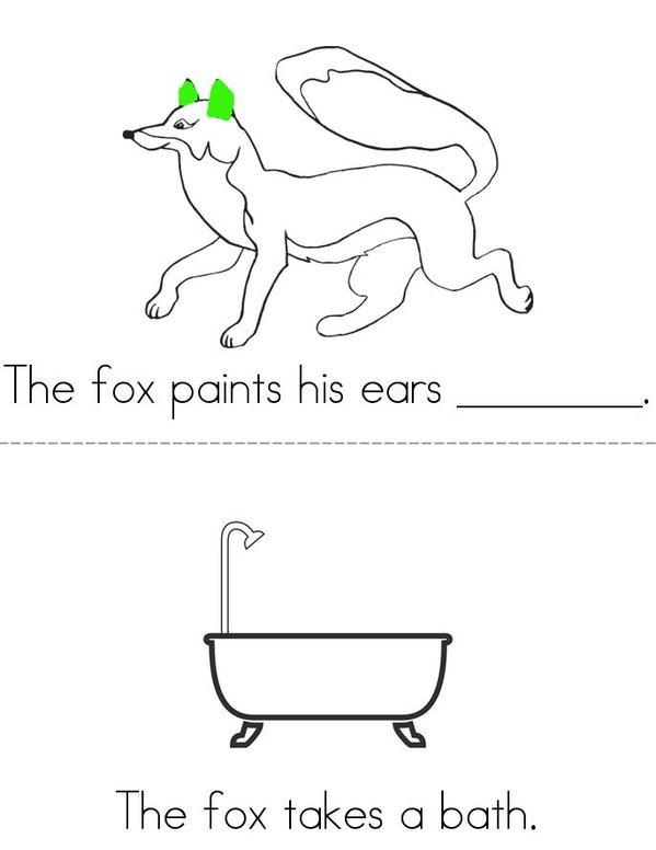 Fox Likes to Paint Mini Book - Sheet 3
