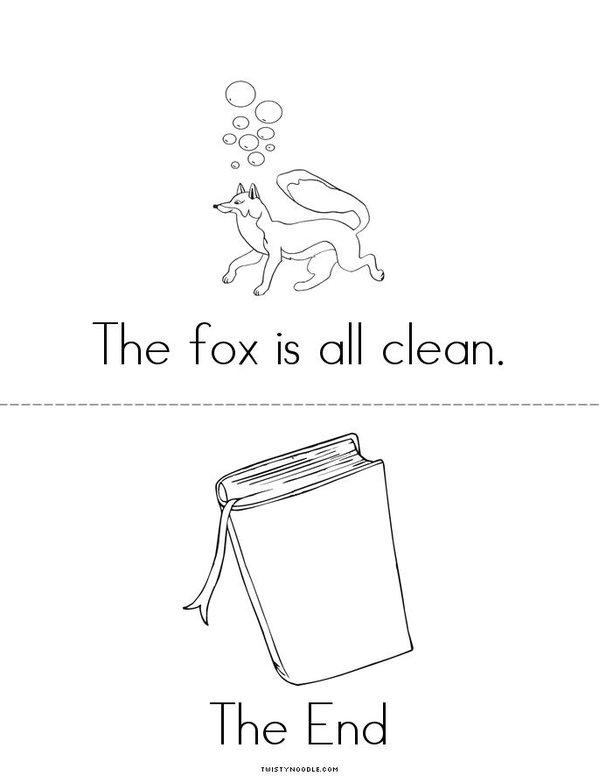 Fox Likes to Paint Mini Book - Sheet 4