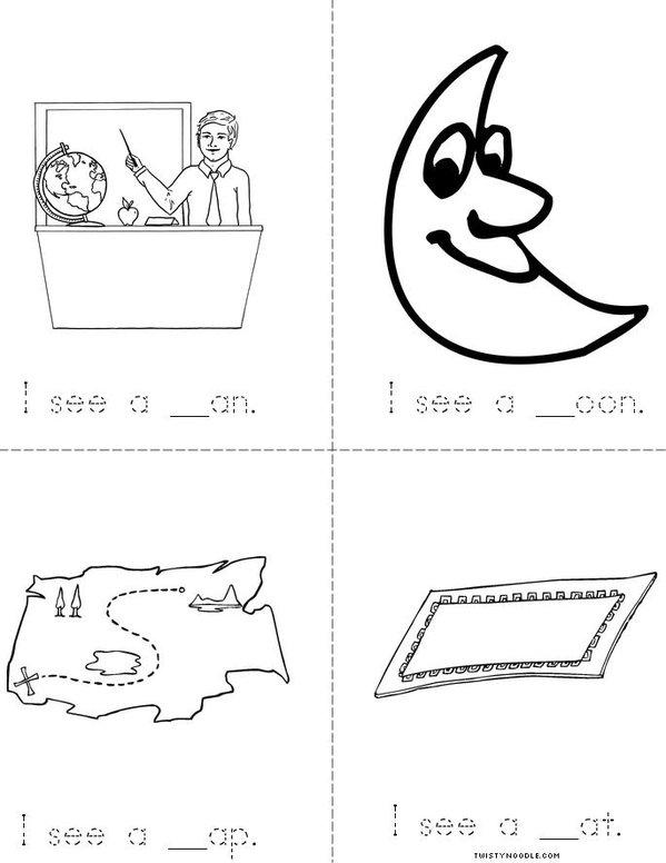 I see (letter m) Mini Book