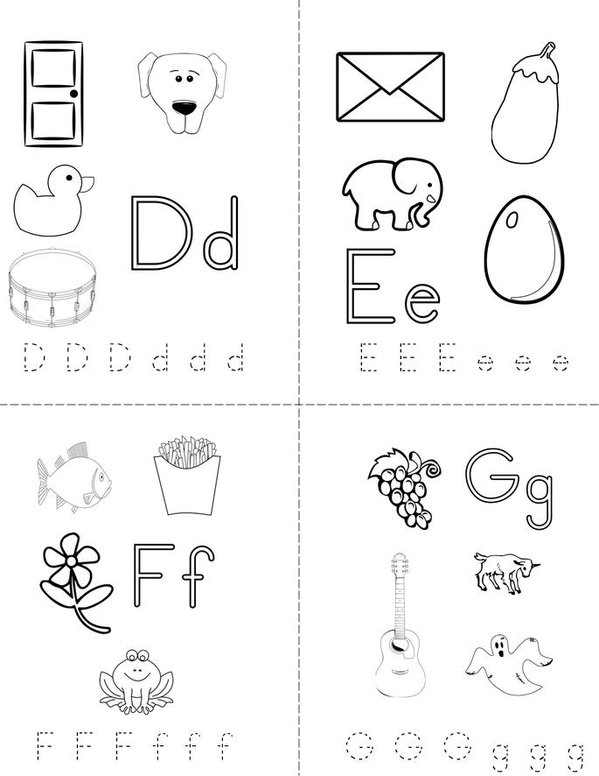 My abc book twisty noodle for Printable alphabet book template