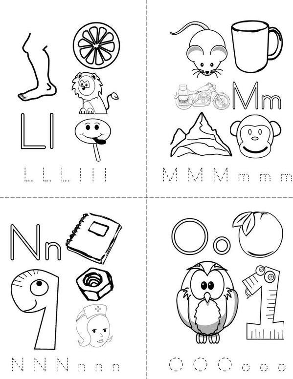 My ABC Mini Book - Sheet 4