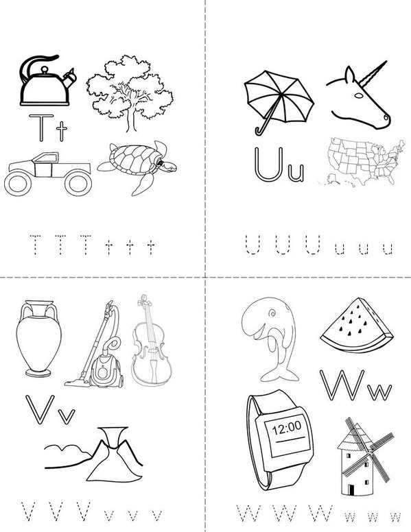 My ABC Mini Book - Sheet 6