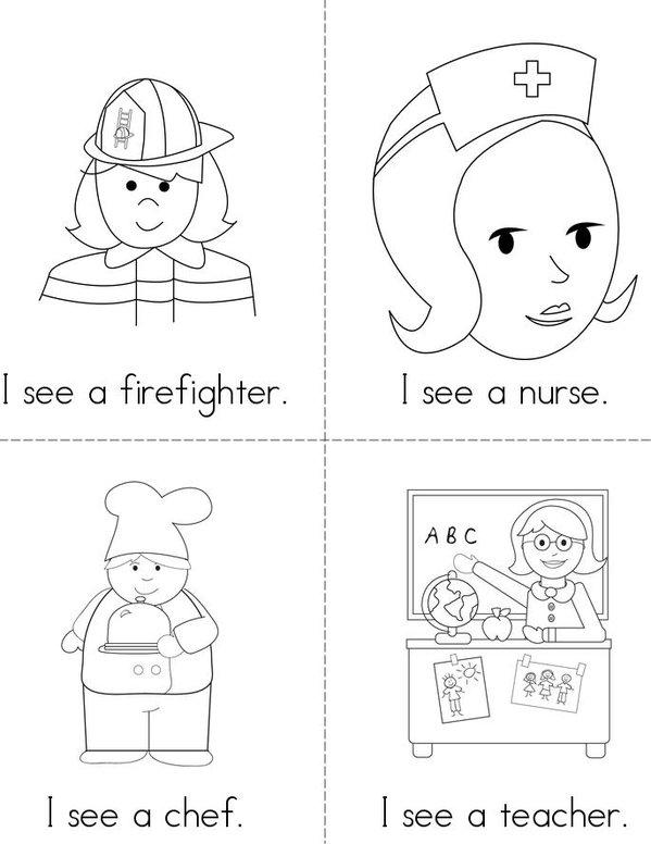 Jobs (I see) Mini Book - Sheet 1