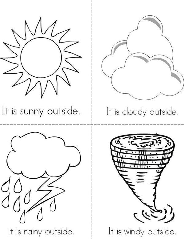 Weather Mini Book - Sheet 1