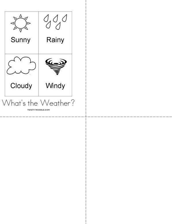 Weather Mini Book - Sheet 2
