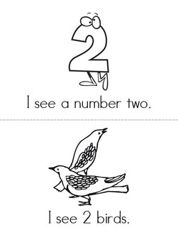 I see a number 2! Book