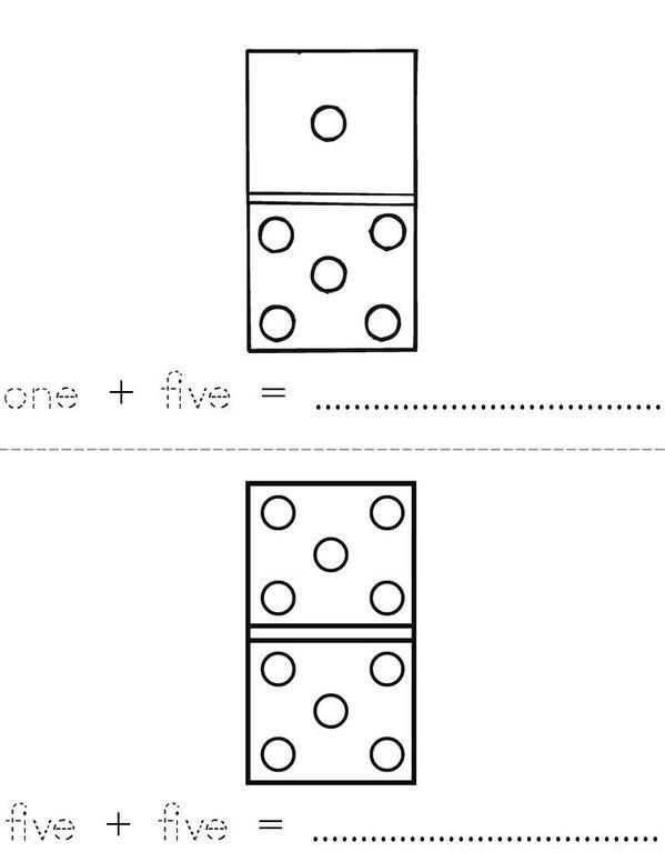 Add the dots Mini Book - Sheet 1