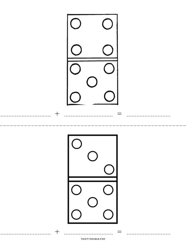 Add the dots Mini Book - Sheet 2