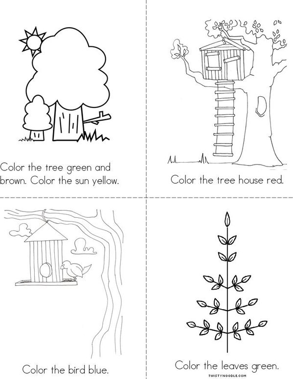 Arbor Day Coloring Book - Twisty Noodle