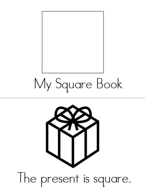 My Square Book Mini Book - Sheet 1